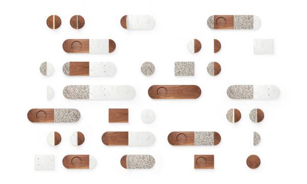 All of a Piece accessoires de table par Dana Cannam Design