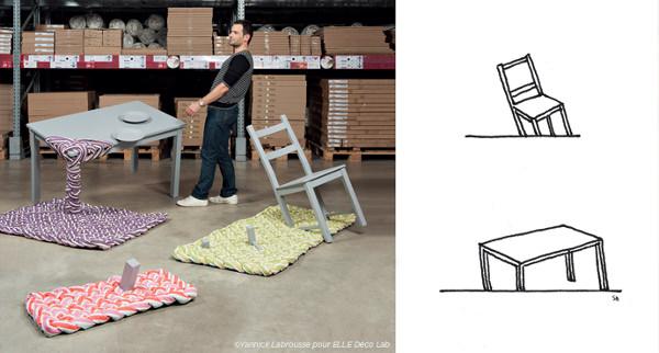 Installation Annbeth pour l'exposition IKEA – Elle Déco Lab -  © Yannick Labrousse
