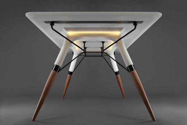 table t le corian lumineux par irena kilibarda blog. Black Bedroom Furniture Sets. Home Design Ideas