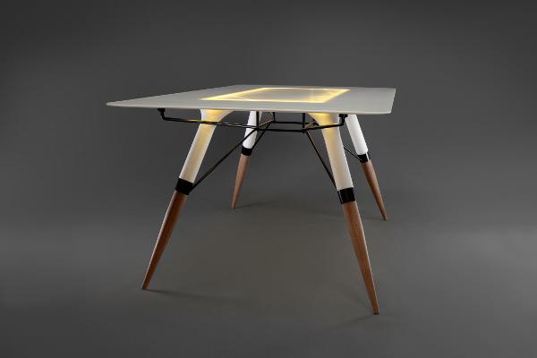 Table T le Corian lumineux par Irena Kilibarda