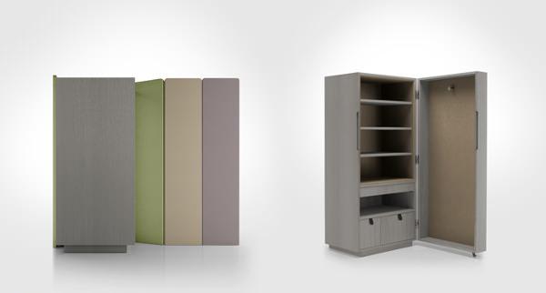 Chambre, armoire Orhi, collaboration avec Jean-Louis Iratzoki, pour Pyrenea   - © Mito