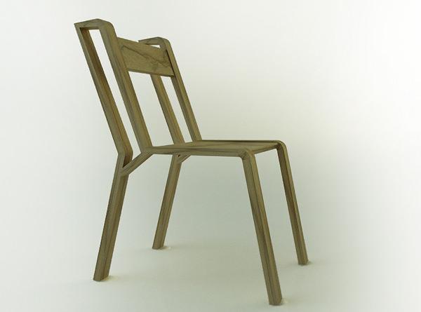 Chaise InOut par le studio Bucca Design