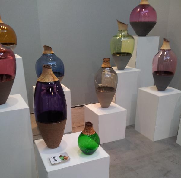 Retour sur Maison et Objet 2013 - Vase bois et verre coloré - Utopia & Utility