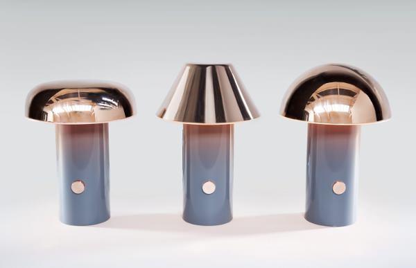 rivet lampe reflets cuivr s par david irwin blog esprit design. Black Bedroom Furniture Sets. Home Design Ideas