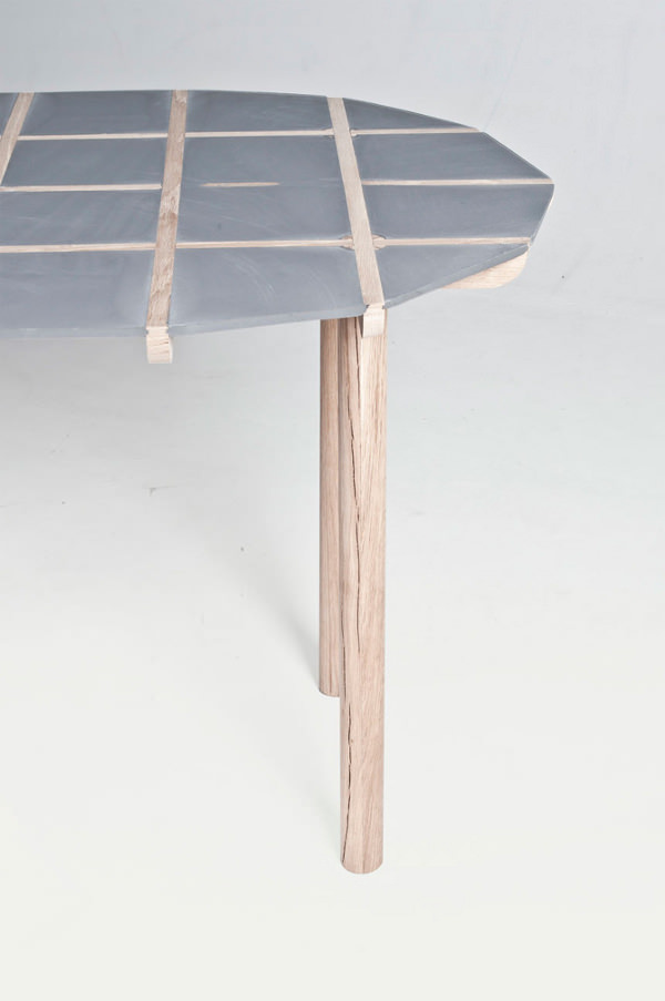 Timber la table à couler par Vincent Tarisien