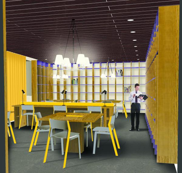 Projet pour la bibliothèque de l'Institut Paul Bocuse