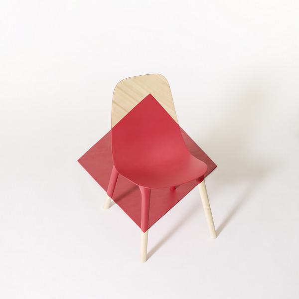 Chaise graphique Baby Pop par Paul Venaille