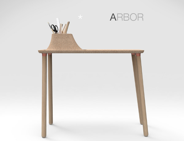 arbor le bureau d 39 appoint par tim defleur blog esprit design. Black Bedroom Furniture Sets. Home Design Ideas