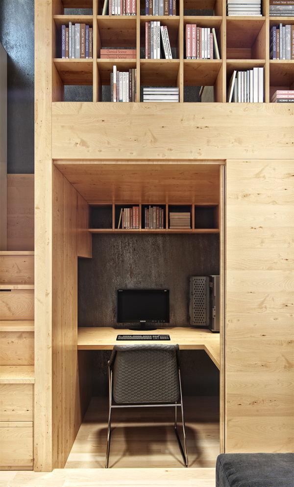 Appartement urbain par denis svirid blog esprit design - Layout klein appartement ...