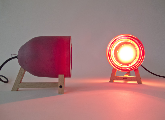 Lampe Little appointment with the moon par Marine Hunot