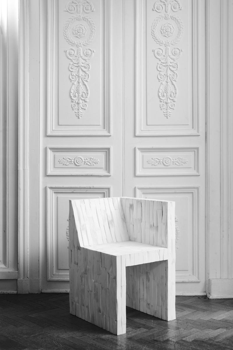 Chaise à strates par Rick Owens