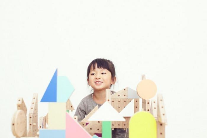 Dowel blocks le kit de construction pour enfant par Ichiro Design