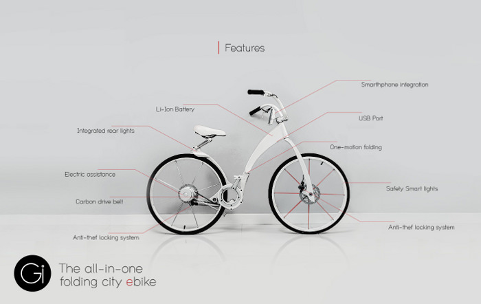 gi bike le nouveau v u00e9lo  u00e9lectrique pliable intelligent