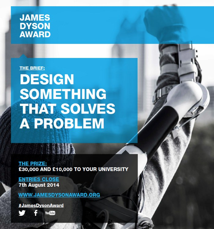 Ouverture du James Dyson Award 2014 BED