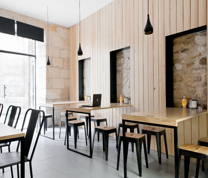Restaurant bordeaux o petit en k par le studio hekla for Petit restaurant