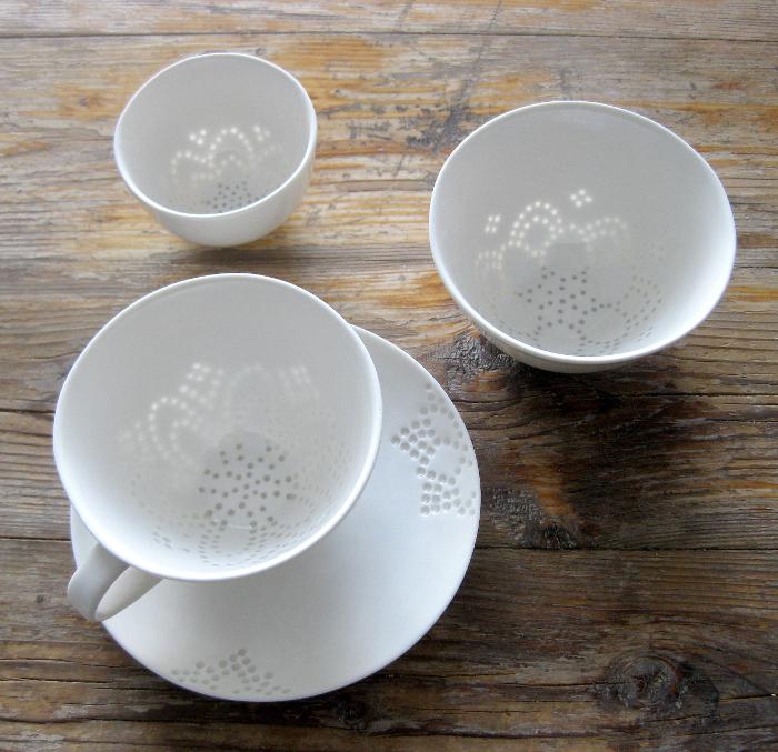Rice grain porcelain par Eeva Jokinen