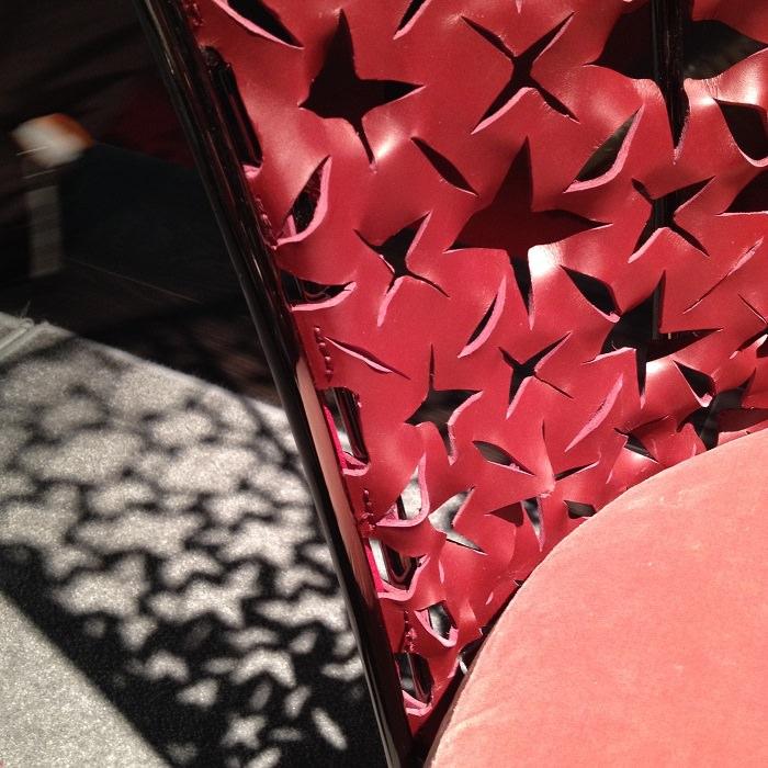Détail découpe de cuir - Salone del Mobile 2014
