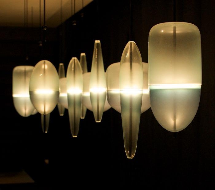 Lampes chez Poliform - Salone del Mobile 2014