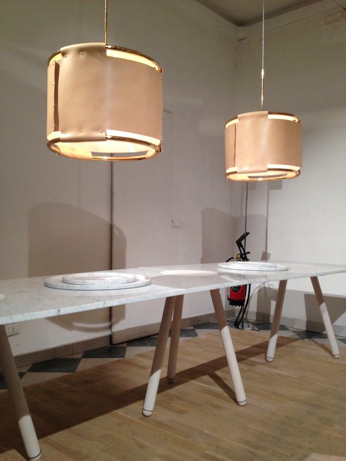 Table bois/marbre par Ready Made, Suède  - Milan Design Week