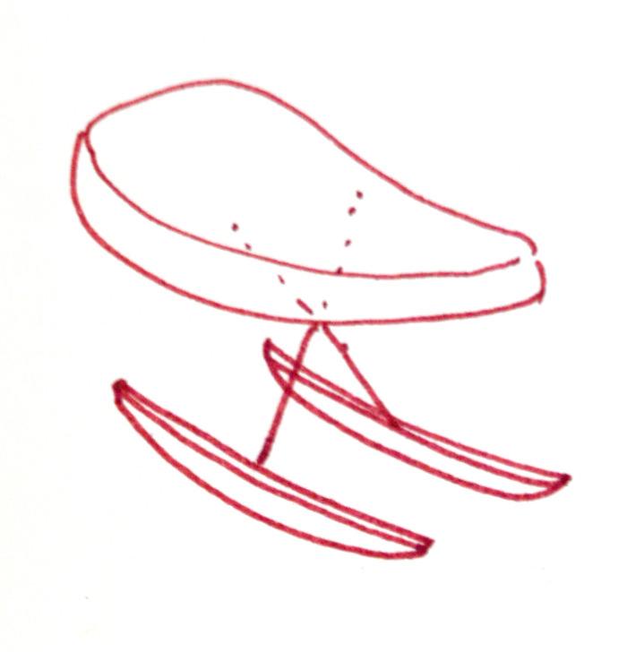 Le fauteuil à bascule DADA par Tiphaine Vasse