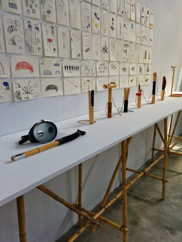 Travail d'Antoine Boudin - arundo e estambord - Expo palais de Tokyo