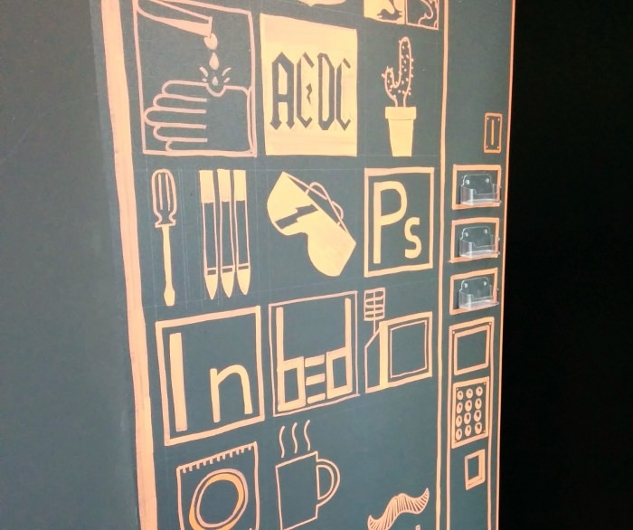 Expo 58/10 - Petit hommage sympa à BED sur le mur d'inspirations