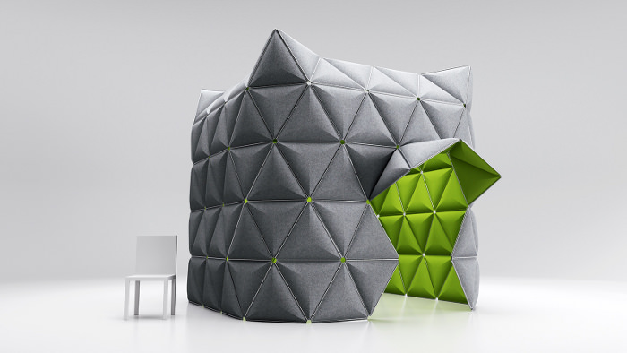 KIVO structure spatiale pour open space par Alexander Lorenz