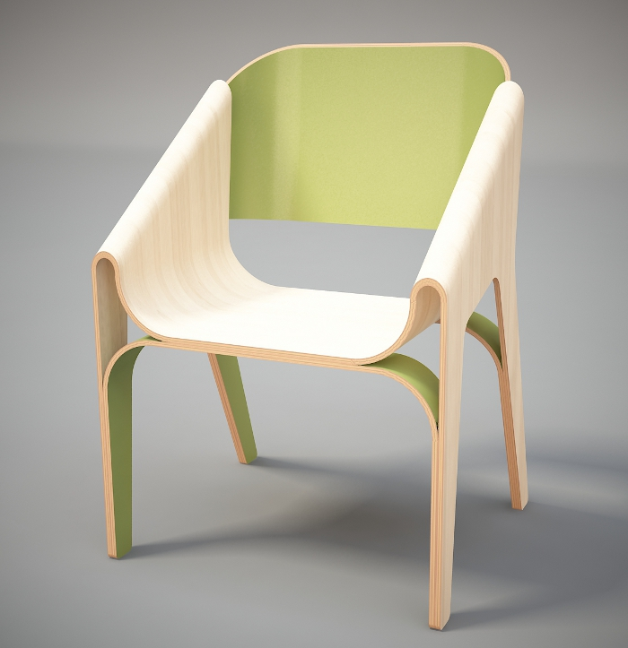 Prototype chaise par Svilen Gamolov