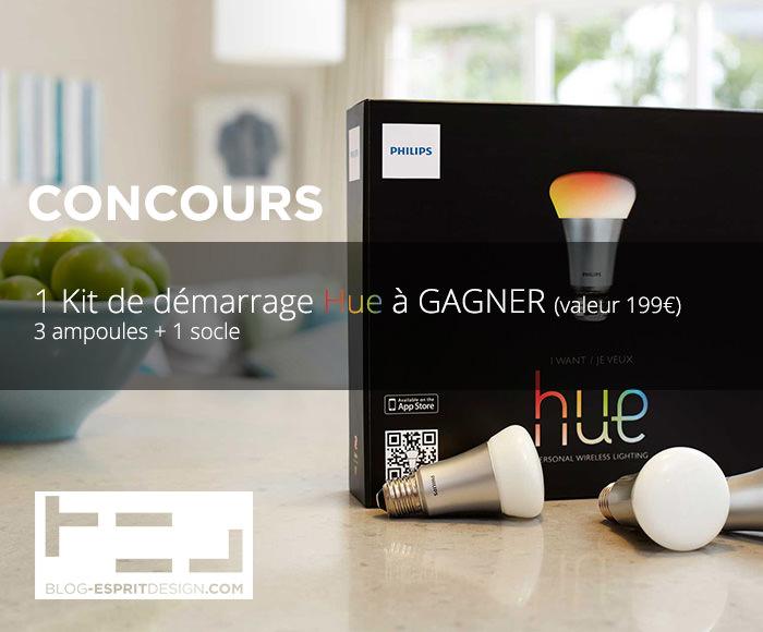 CONCOURS votre kit Philips HUE à GAGNER - Le Gagnant