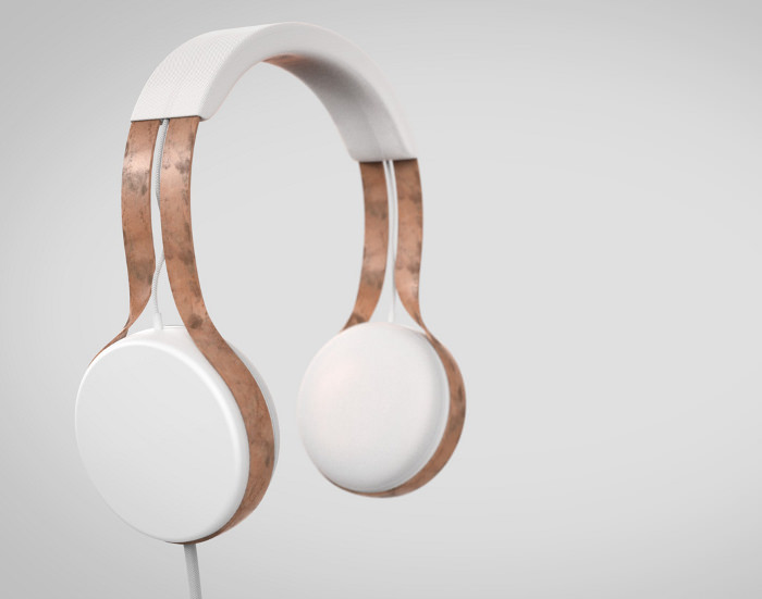 Cyprium le casque audio en cuivre par Dan Salisbury