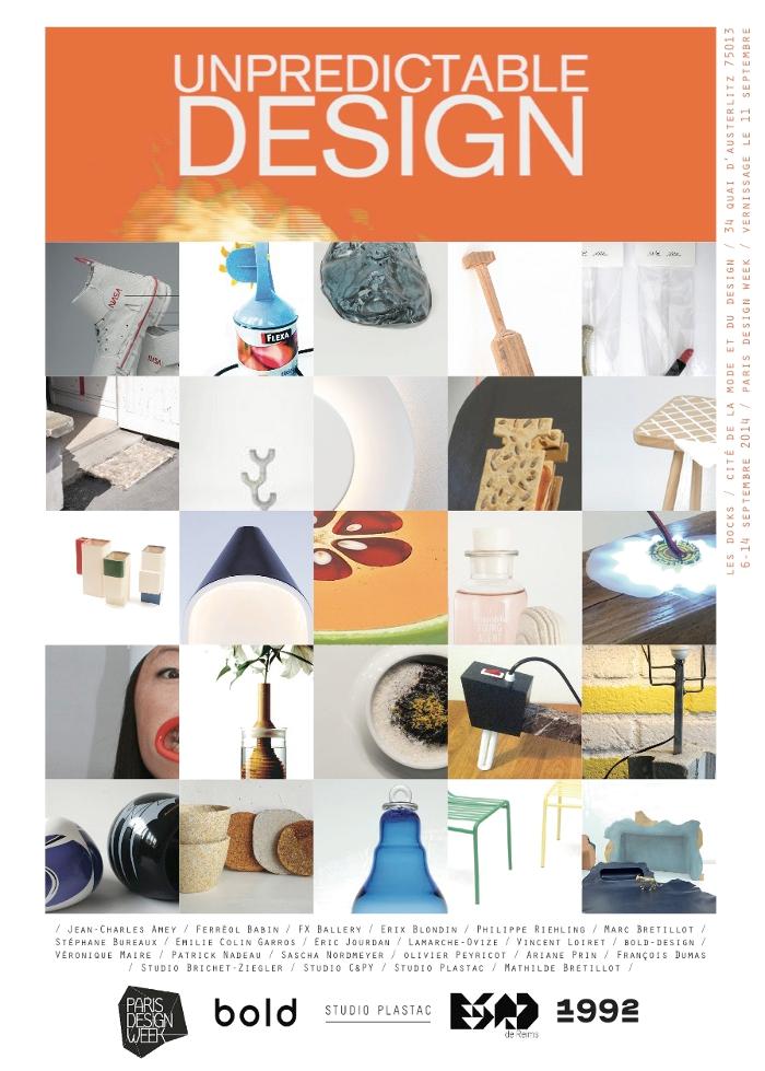 Exposition 1992 UNPREDICTABLE DESIGN paris design week france actualités