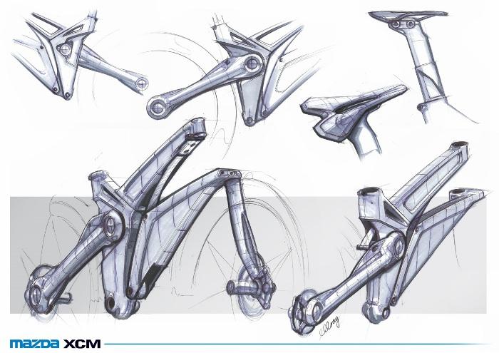 Mazda XCM cross country à fourche volante par Michael Gray