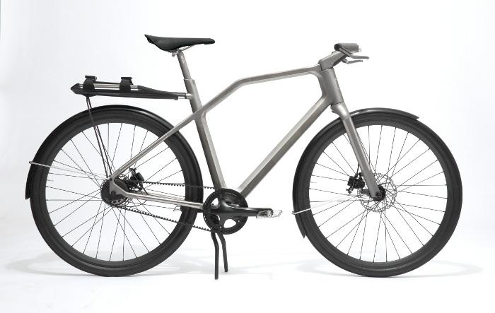 SOLID vélo bike design gris titanium titane métal steel