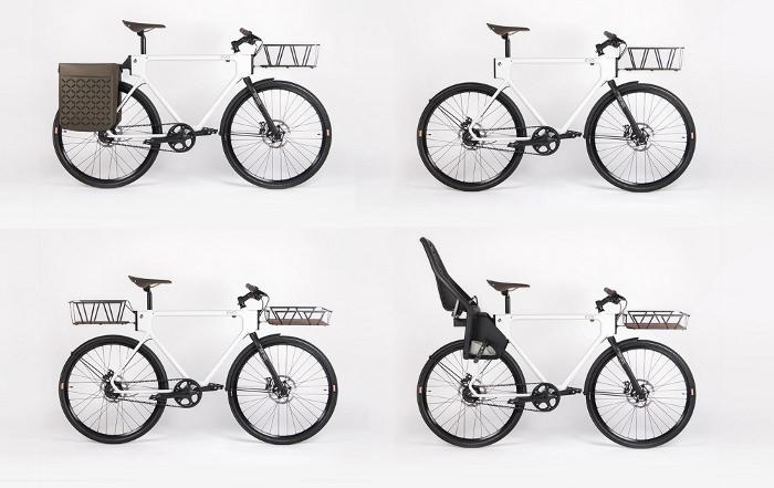 Vélo EVO design transport mobilité casier siege enfant