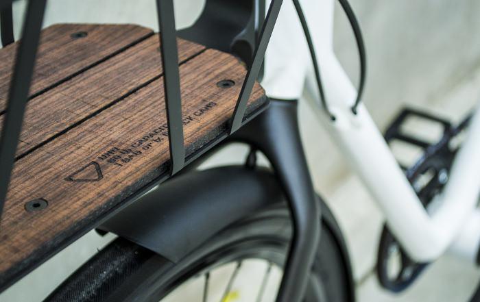 Vélo EVO détails bois design