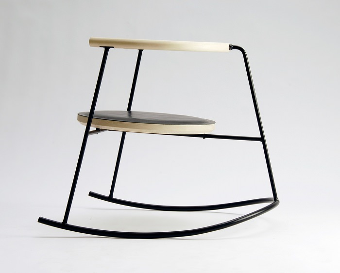 chaise design scandinave bascule