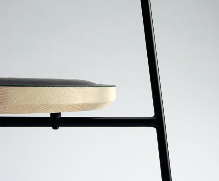 details design bois metal rockingchair