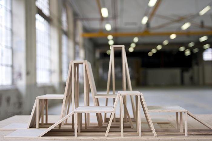 projet Nicolas Walz furniture art bois wood
