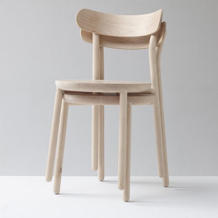 them chair chaise en bois nicholas karlovasitis sarah gibson. Black Bedroom Furniture Sets. Home Design Ideas