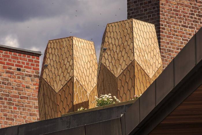 vulkan beehive les ruches urbaines par snohetta. Black Bedroom Furniture Sets. Home Design Ideas