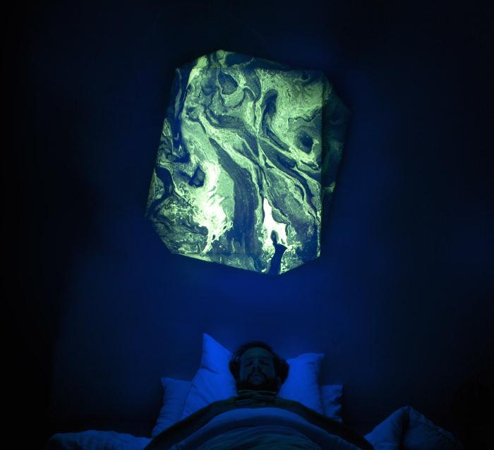 DSS H24/2 luminaire de nuit Suminagashi par Valentin Dommanget