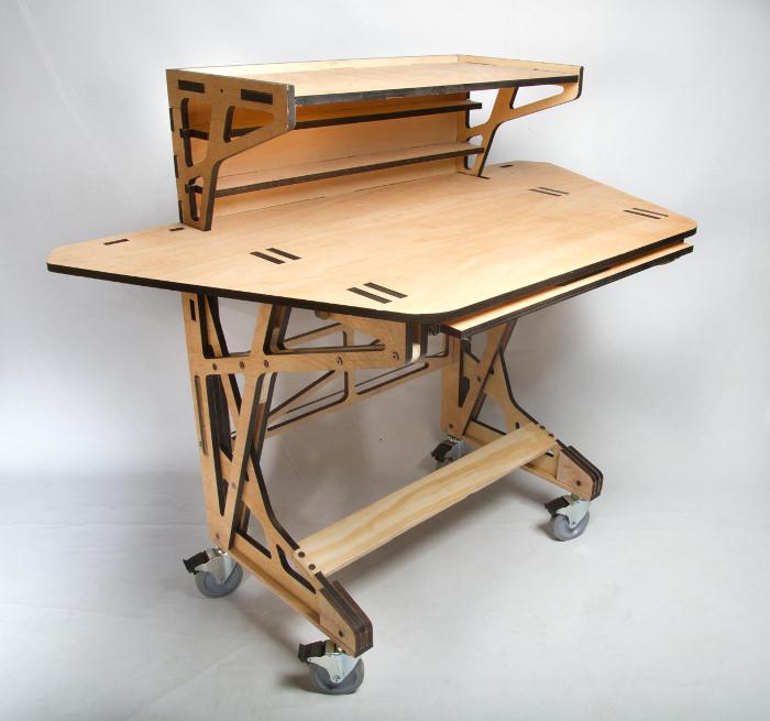 3d fabrication desk le bureau par peter borges. Black Bedroom Furniture Sets. Home Design Ideas