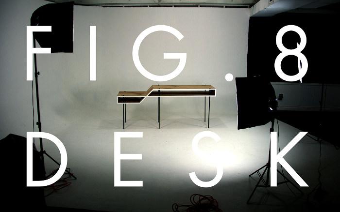 Bureau minimaliste Fig. 8 Desk par Steven Berkas