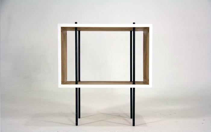 bureau minimaliste fig 8 desk par steven berkas. Black Bedroom Furniture Sets. Home Design Ideas