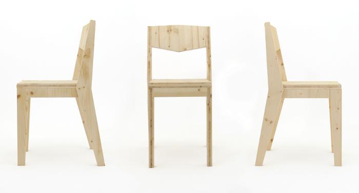 Chaise K design - Mobilier Canadienne par le collectif nantais Fichtre