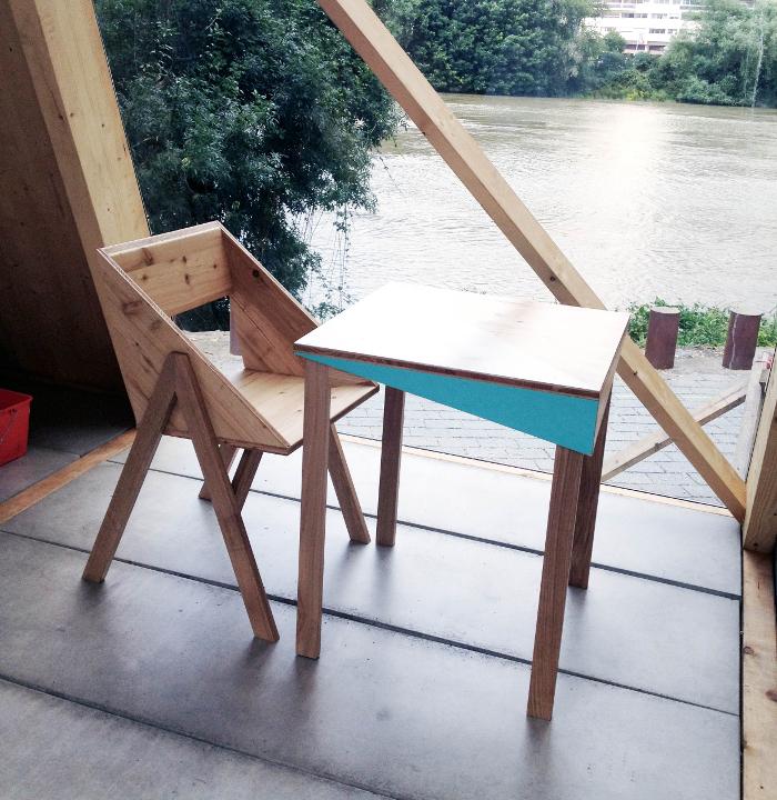 Table design - Mobilier Canadienne par le collectif nantais Fichtre