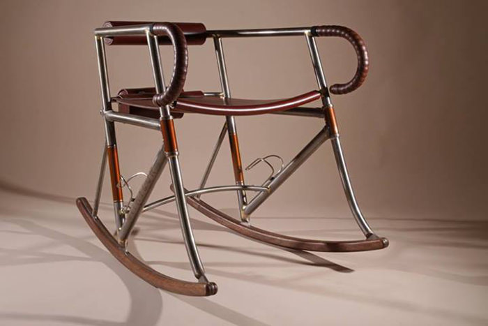 Randonneur Chair rockingchair inspiré du cyclisme par Two Makers
