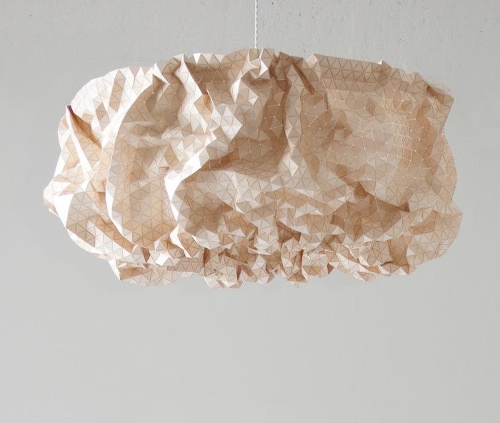 Suspension Miss Maple le textile de bois par Elisa Strozyk