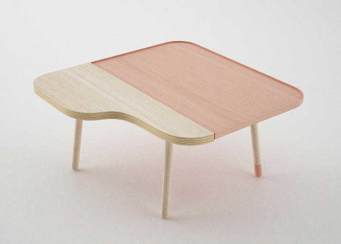 Tables bicolores Bito par Nicola Conti