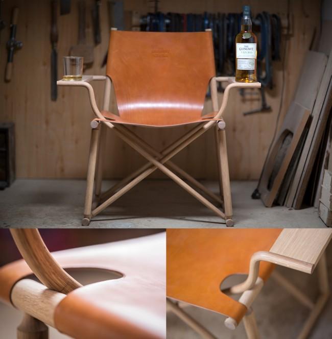 La chaise à whisky par Gareth Neal